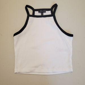Topshop Louis Vest Camisole Crop Top